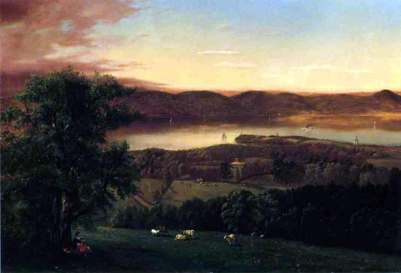 Jr. Robert Havell View of the Hudson from Sing-Sing, New York - Canvas Art Print