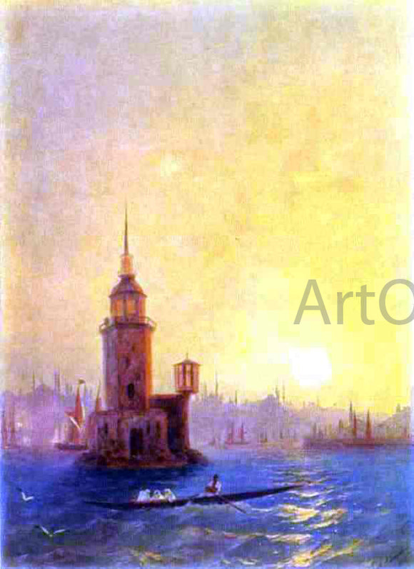 Ivan Constantinovich Aivazovsky View of the Leander Tower in Constantinople - Canvas Art Print