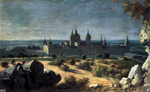 Michel-Ange Houasse View of the Monastery of El Escorial - Canvas Art Print