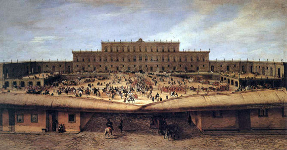 Pandolfo Reschi View of the Palazzo Pitti - Canvas Art Print
