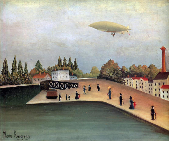 Henri Rousseau View of the Quai d'Ovry - Canvas Art Print