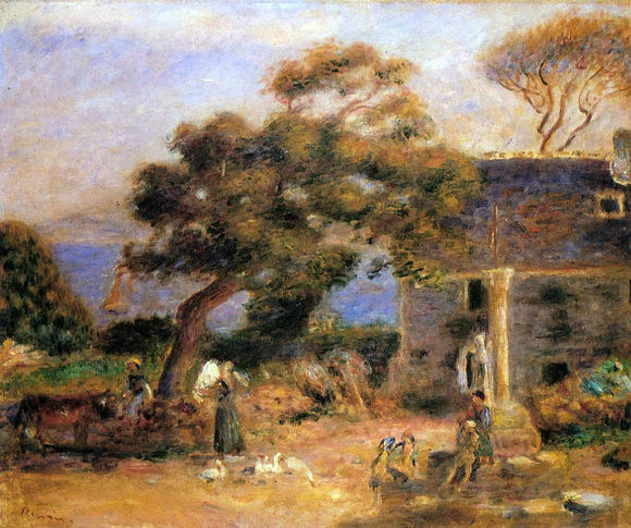 Pierre Auguste Renoir View of Treboul - Canvas Art Print
