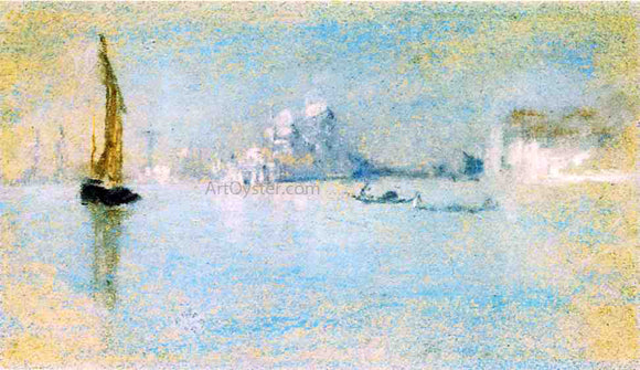 James McNeill Whistler View of Venice - Canvas Art Print