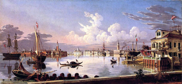 Robert Salmon View of Venice - Canvas Art Print