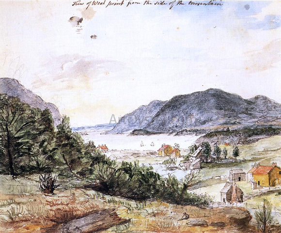 Charles Willson Peale View of West Point from the Side of the Mountain - Canvas Art Print