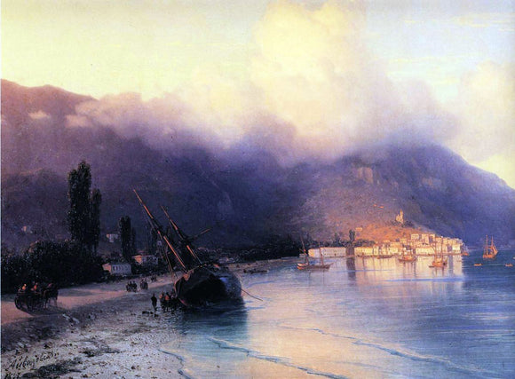 Ivan Constantinovich Aivazovsky View of Yalta (detail) - Canvas Art Print