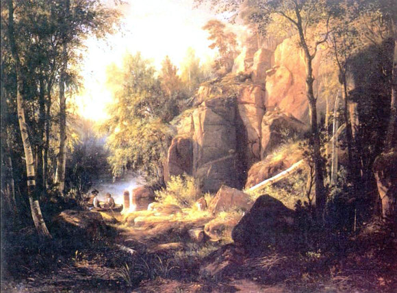 Ivan Ivanovich Shishkin View on island Valaam (place Kukko) - Canvas Art Print