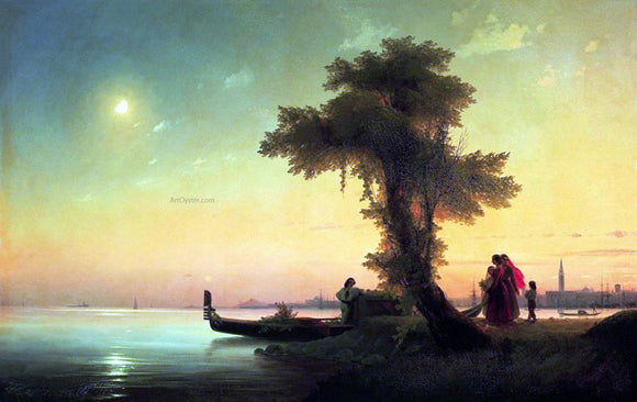 Ivan Constantinovich Aivazovsky View on Lagoon of Venice - Canvas Art Print