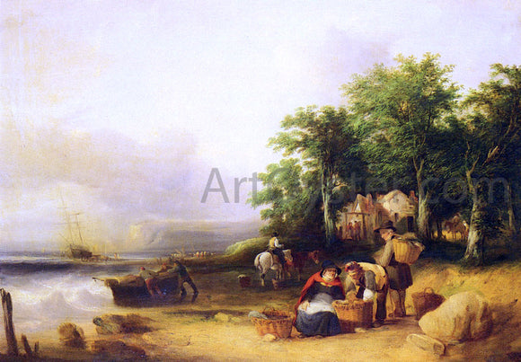 Senior William Shayer View on the Isle of Wight - Canvas Art Print