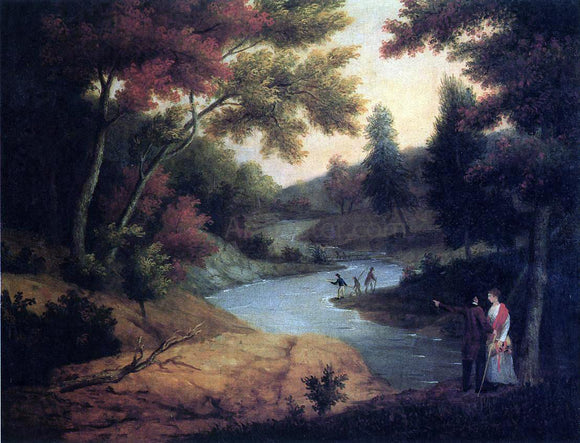James Peale View on the Wissahickon - Canvas Art Print