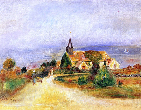 Pierre Auguste Renoir Village by the Sea - Canvas Art Print