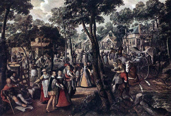 Joachim Beuckelaer Village Feast - Canvas Art Print