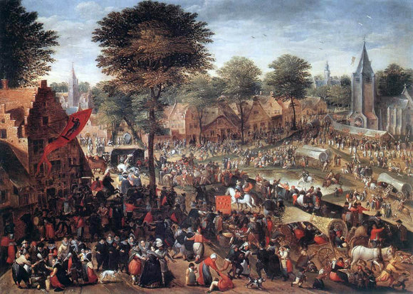 Hans Bol Village Feast (Annual Fair) - Canvas Art Print