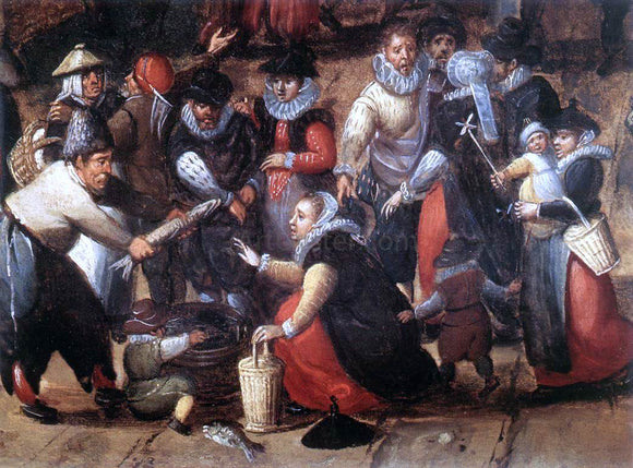 Hans Bol Village Feast (detail) - Canvas Art Print