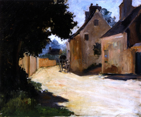 Pierre Auguste Renoir Village Street, Louveciennes - Canvas Art Print