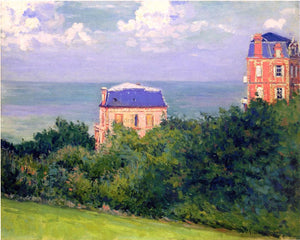 Gustave Caillebotte A Villas at Villers-sur-Mer - Canvas Art Print