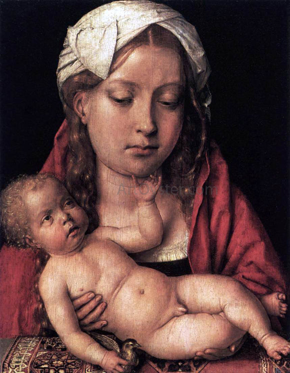 Michel Sittow Virgin and Child - Canvas Art Print
