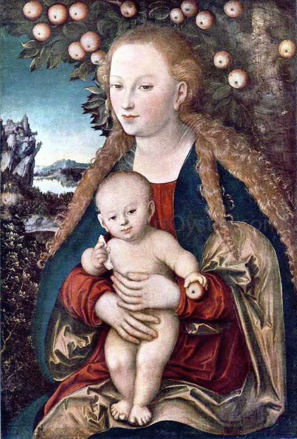 The Elder Lucas Cranach Virgin and Child - Canvas Art Print