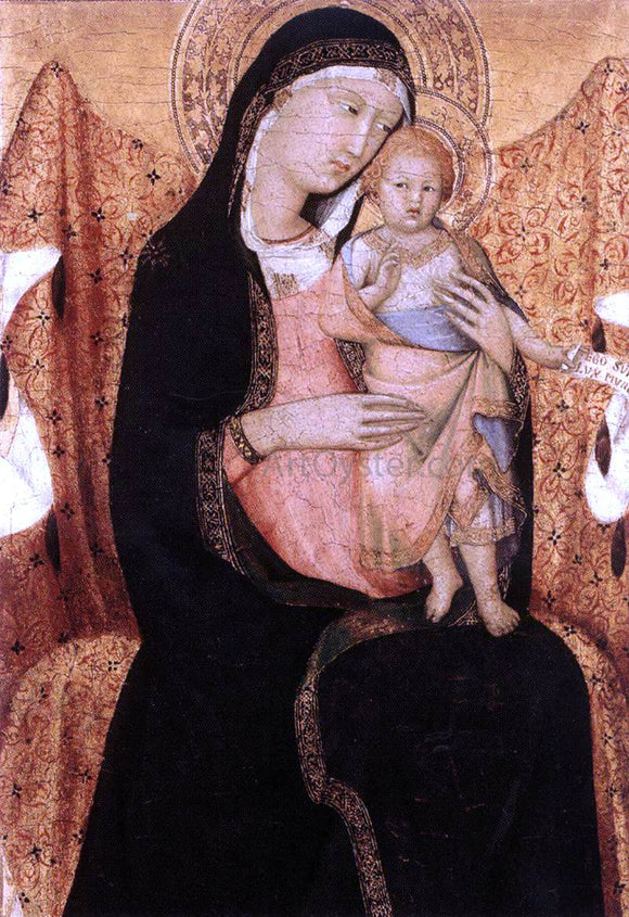 Lippo Memmi Virgin and Child (detail) - Canvas Art Print