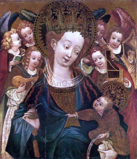 Unknown (2) Masters Virgin and Child with Angels - Canvas Art Print