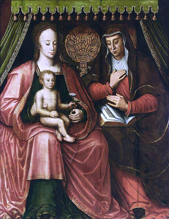 Antoon Claeissens Virgin and Child with St Anne - Canvas Art Print