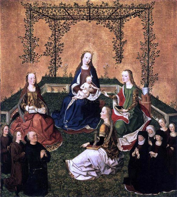 Master the Virgin Virgin and Child with Three Saints - Canvas Art Print