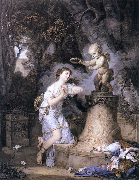 Jean Baptiste Greuze Votive Offering to Cupid - Canvas Art Print