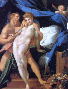 Bartholomaeus Spranger Vulcan and Maia - Canvas Art Print
