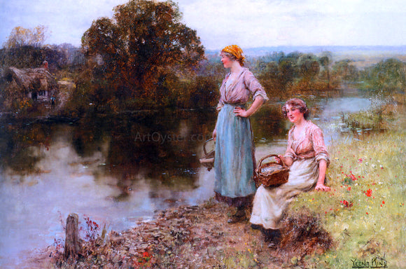 Henry Yeend King Waiting for the Ferryman - Canvas Art Print