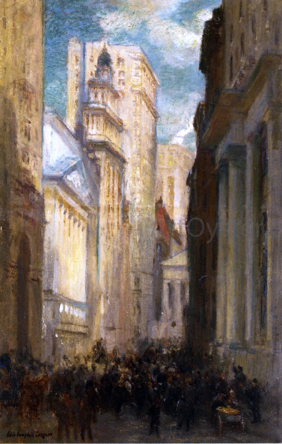 Colin Campbell Cooper Wall Street - Canvas Art Print