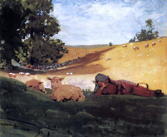 Winslow Homer Warm Afternoon (also known as Shepherdess) - Canvas Art Print