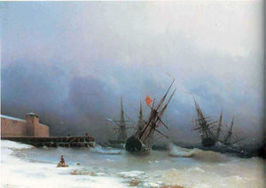 Ivan Constantinovich Aivazovsky Warning of Storm - Canvas Art Print