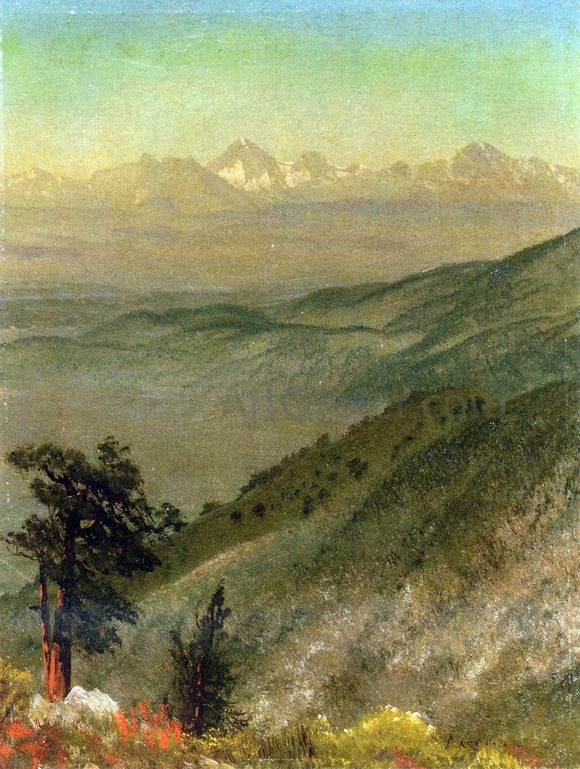 Albert Bierstadt Wasatch Mountains - Canvas Art Print