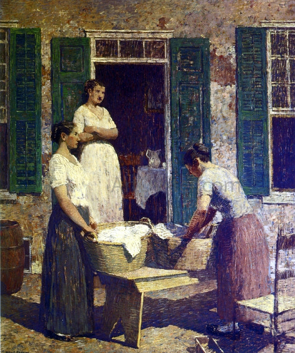 Robert Spencer Washday - Canvas Art Print