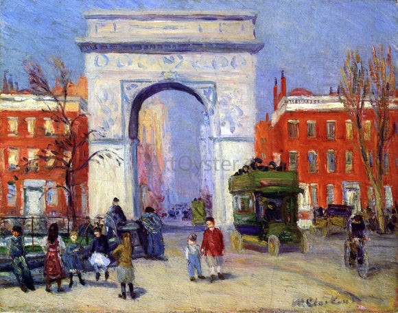 William James Glackens Washington Square Park - Canvas Art Print