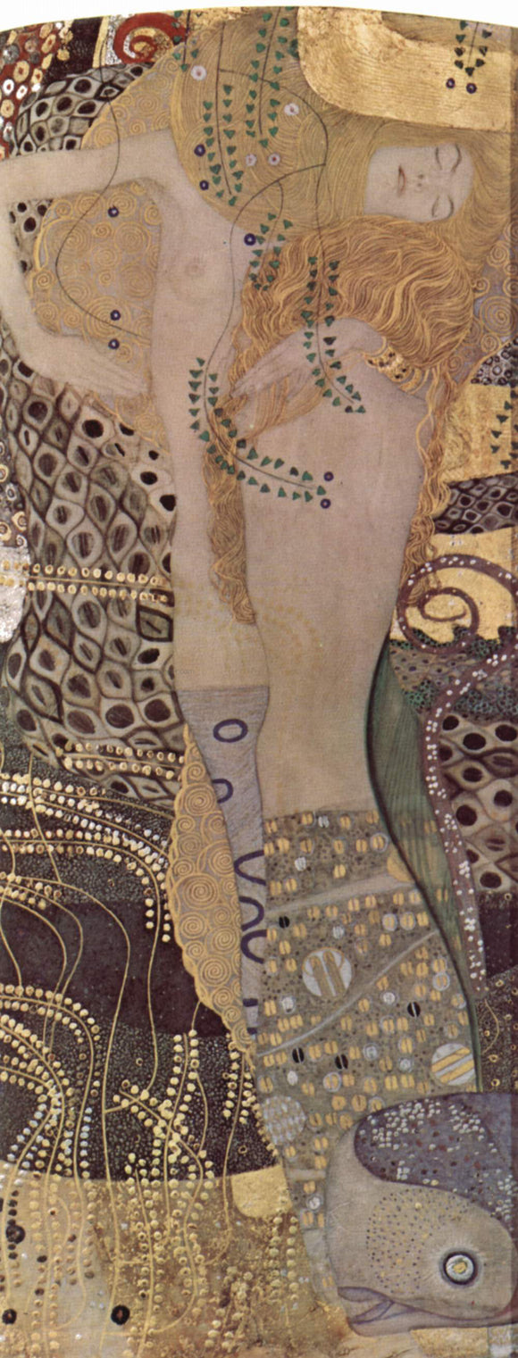 Gustav Klimt Water Serpents I - Canvas Art Print