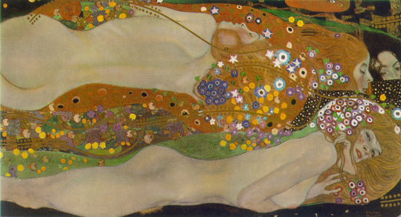 Gustav Klimt Water Serpents II - Canvas Art Print
