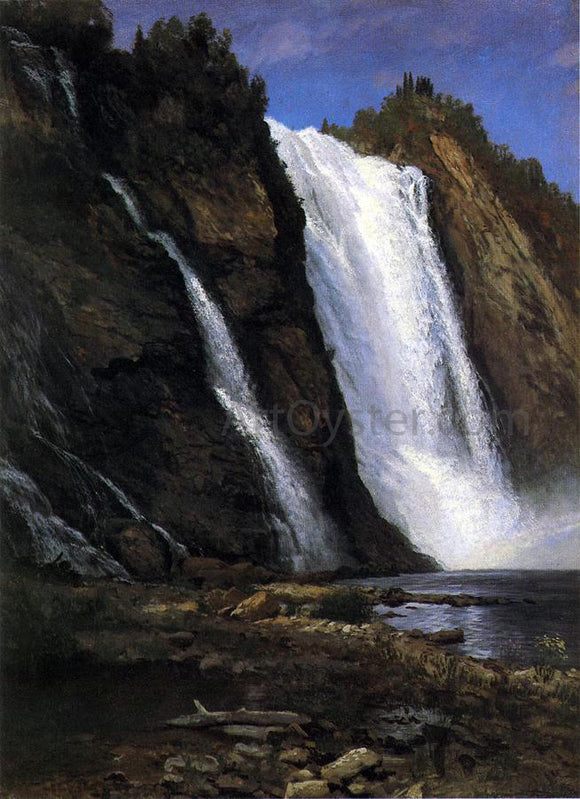 Albert Bierstadt Waterfall - Canvas Art Print