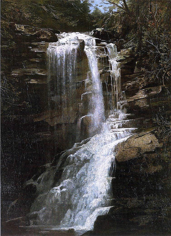 Homer Dodge Martin Waterfall - Canvas Art Print