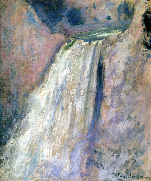 John Twachtman Waterfall, Yellowstone - Canvas Art Print