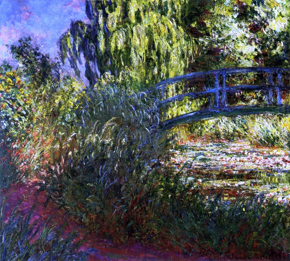 Claude Oscar Monet Waterlily Pond and Path by the Water - Canvas Art Print