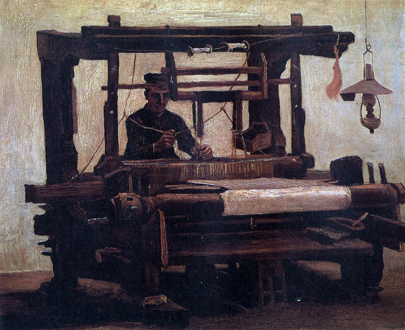 Vincent Van Gogh Weaver, seen from the Front - Canvas Art Print
