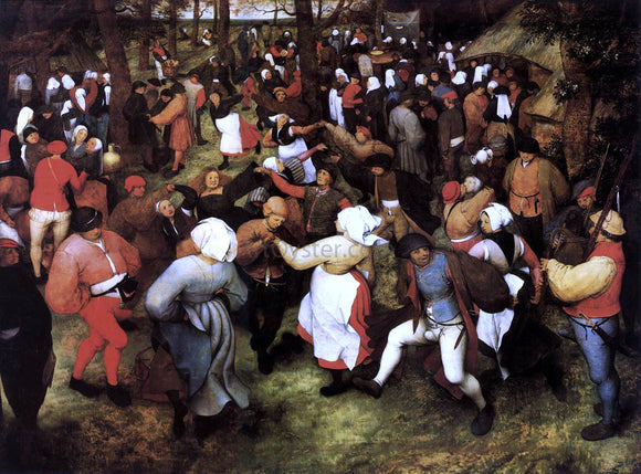 The Elder Pieter Bruegel Wedding Dance in the Open Air - Canvas Art Print