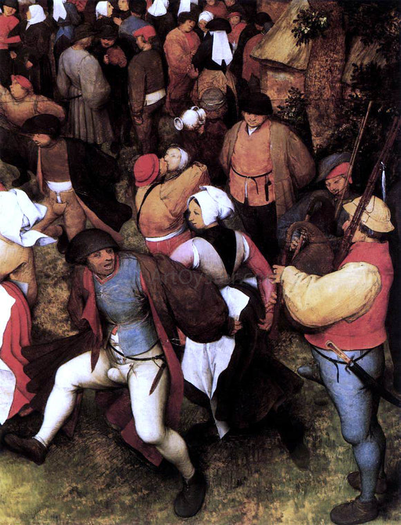 The Elder Pieter Bruegel Wedding Dance in the Open Air (detail) - Canvas Art Print