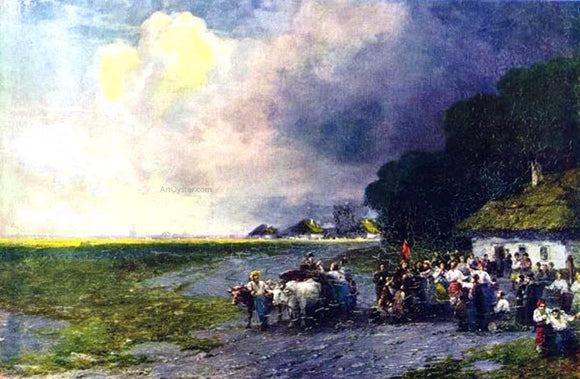 Ivan Constantinovich Aivazovsky Wedding in the Ukraine - Canvas Art Print