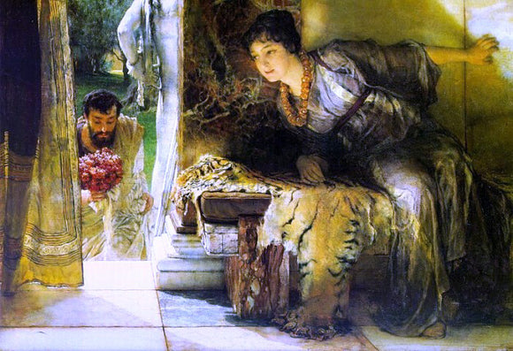 Sir Lawrence Alma-Tadema A Welcome Footstep - Canvas Art Print