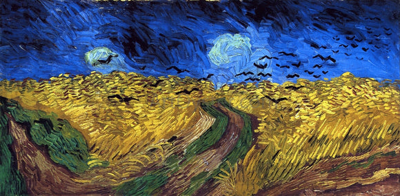 Vincent Van Gogh Wheatfield with Crows - Canvas Art Print