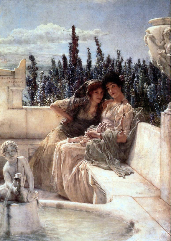 Sir Lawrence Alma-Tadema Whispering Noon - Canvas Art Print