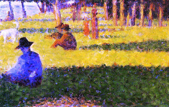 Georges Seurat White Dog - Canvas Art Print