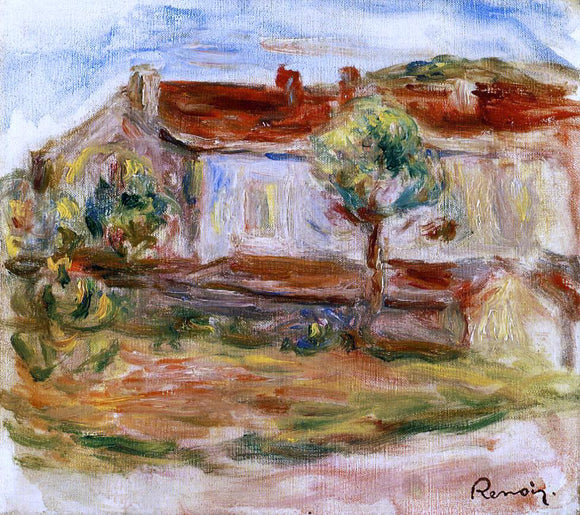 Pierre Auguste Renoir White House - Canvas Art Print